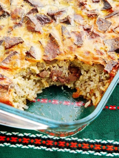 Печена агнешка дроб сарма с дреболии и ориз на фурна за Великден или Гергьовден - снимка на рецептата